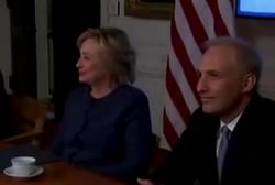 Clinton talks terrorism with nat. security...
