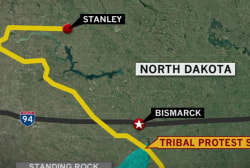 Govt. orders halt of ND oil pipeline...