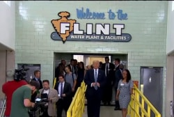 Trump visits Flint, Michigan