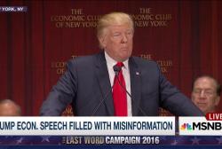 Trump econ speech filled w/ Misinformation