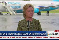 Trump & Clinton trade shots on terror policy