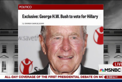 Report: George H. W. Bush to vote for Clinton