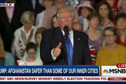 Trump: Afghanistan safer than inner cities