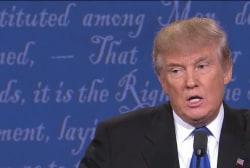 Donald Trump the debater, fact-checked