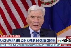 Former GOP senator endorses Clinton