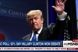 Trump denies campaign strife after debate