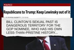 Trump threatens to bring up Monica Lewinsky