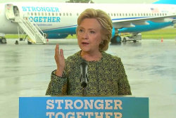 Clinton Urges Americans to 'Choose Resolve...