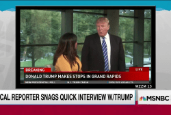 Trump wanders into awkward local interview