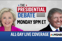 First presidential debate Monday on MSNBC