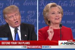 Trump unable to resist interrupting Clinton