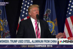 New Expose: Trump used Chinese steel
