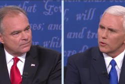 Kaine and Pence debate abortion rights