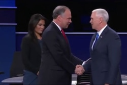 Did Pence 'stray' away from Trump in debate?