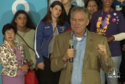Kaine: Pence can't defend Donald Trump