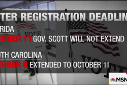 Will Florida extend voter registration...