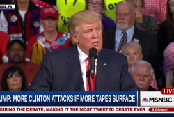 Trump: More attacks if more tapes surface