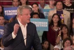 Al Gore back on campaign trail for Clinton