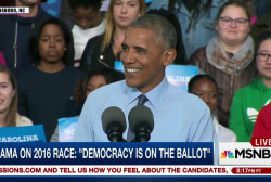 Obama on 2016: 'Democracy is on the ballot'
