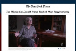 Women report inappropriate touching by Trump