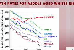 Death rates for middle-aged whites rising...