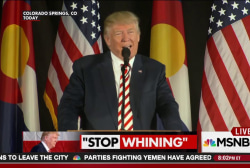 Will Trump ever 'stop whining?'