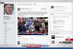 Trump launches own pre-debate broadcast