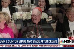 Clinton, Trump trade jokes at NYC fundraiser