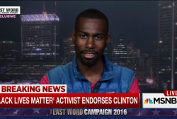 Exclusive: BLM activist endorses Clinton