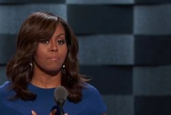 Clinton campaigns with Michelle for the...