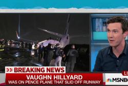 Rough landing Pence plane slides off runway