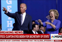 Report: Biden tops Clinton Secy. of State...