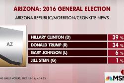 Clinton opens up Arizona lead: poll
