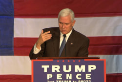 "Pence: ""American people sick of pay-to..."