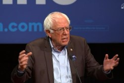 Sanders warns voters of the 'crisis' of...
