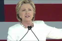 Clinton returns to Trump's treatment of women
