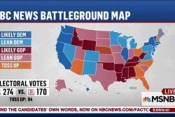 Clinton leads NBC Battleground Map on...