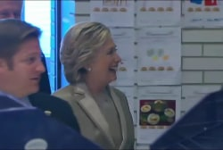 Hillary Clinton votes in New York