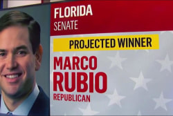 NBC News projects Rubio wins FL Senate seat