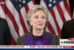 Clinton reacts to stunning loss: 'I still...