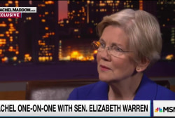 Senator Warren sees some 'overlap' with Trump