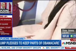 Trump softens stance on ending Obamacare