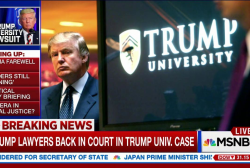 Trump university lawsuit nearing settlement