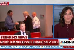 Trump leaves New York Times meeting