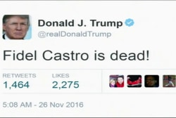 Trump, Cruz react to Fidel Castro's death