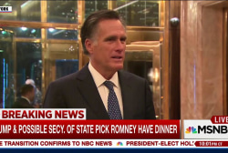 After slamming Trump in campaign, Romney...