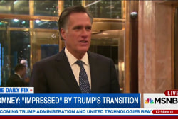 Romney 'impressed' with Trump's transition...