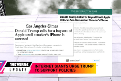 Internet giants press Trump for support