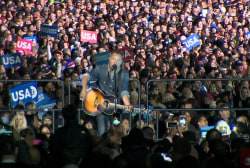 Springsteen rails against Trump at rally