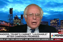 Sanders on Trump's filthy rich cabinet